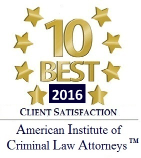 2016 10 Best Client Satisfaction - American Institute of Criminal Law Attorneys